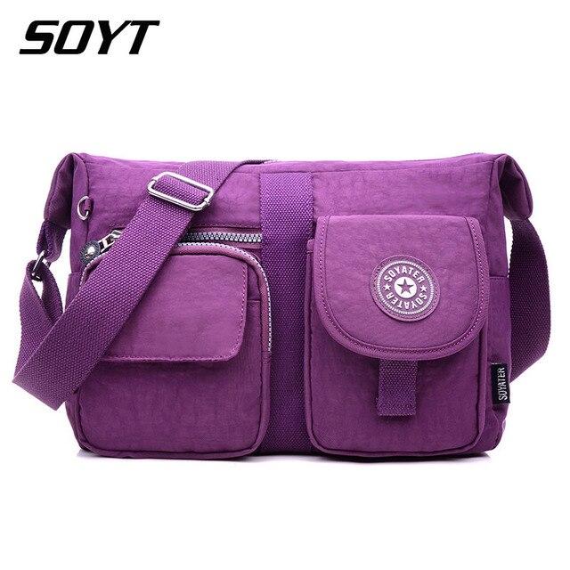 SOYT New Woman Nylon Bag Waterproof Nylon Messenger Bag For Women Handbags  Sling Shoulder Bags With Pockets Bolsa Feminina WH496 37c5781cd63e1