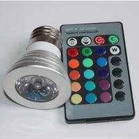 LED 16 Colour RGB Spotlight E27/GU10/E14 AC: 86-265v MR16 DC:12v RGB Colourful Lamp LED 3W Lighting +24 Key IR Remote Control
