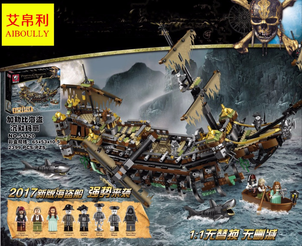 2017 New Pirate Ship Series 2399pcs 51120 The Slient Mary Set Children Educational Building Blocks Bricks Toys Model Gift 71042 new lepin 16042 pirate ship series building blocks the slient mary set children educational bricks toys model gift with 71042