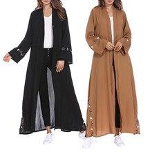 Elbise İslam Işlemeli Uzun