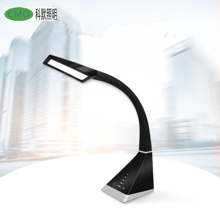 Lampe de bureau Flexible LED capteur tactile de luminosité à 5 niveaux lampe de Table Dimmable pour les yeux
