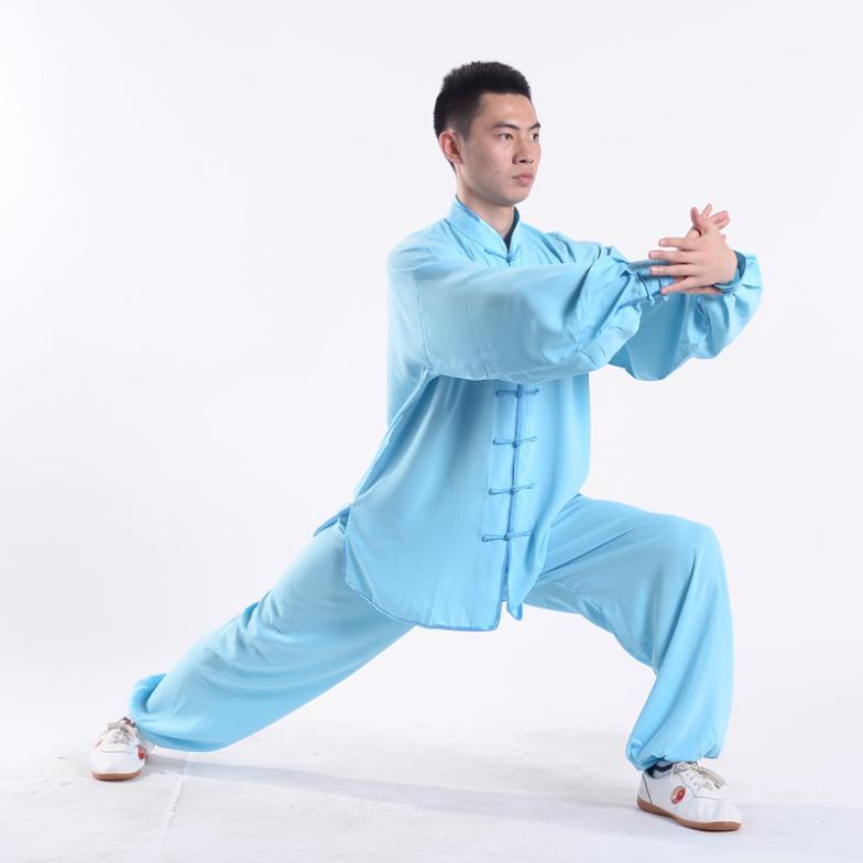 Китайский Стиль ушу TaiChi кунг-фу форма Wing chun костюм равномерное тайцзицюань футболка и Брюки для девочек