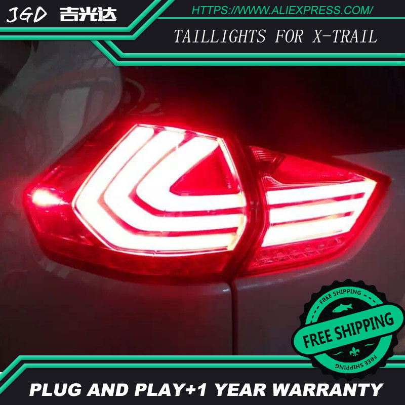 Car LED Tail Light Parking Brake Rear Bumper Reflector Lamp for Nissan X-Trail 2014-2016 Red Fog Stop Lights Car styling rear bumper reflector light for nissan juke murano sentra quest infiniti fx35 fx37 fx50 led red fog parking brake tail lamp