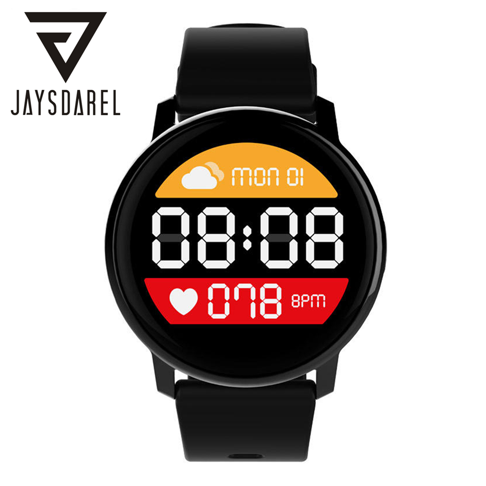 JAYSDAREL K8 Heart Rate Monitor Smart Watch Fashion IP67 Waterproof BT Dialer Sports Fitness Tracker for Android iOS pedometer heart rate monitor calories counter led digital sports watch fitness for men women outdoor military wristwatches