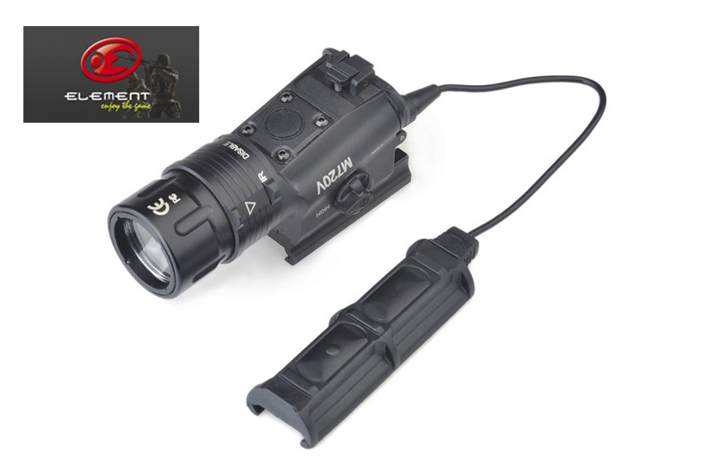 Element SF M720V Tactical Light Strobe Ver. QD Rail Weapon Light Military Flashlight+Free shipping(E040046) wipson sf m600b mini scout light for tactical gun flashlight led weapon light pistol flashlight with remote tail switch