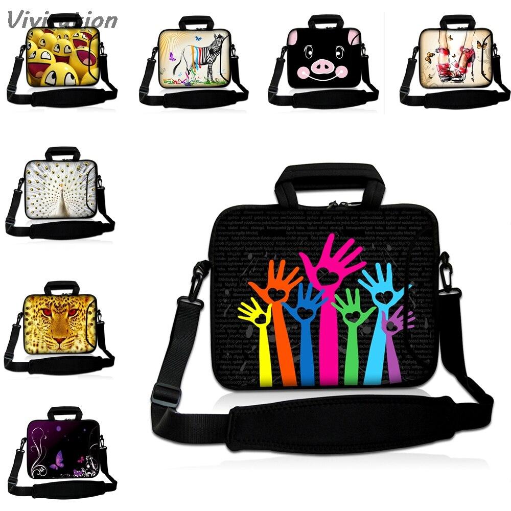 Viviration Womens Neoprene Carry Bag Hot 10 12 13 14 15 17 Laptop Shoulder Strap Messenger Handle Case Mens Portable Bolsas