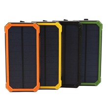 Wopow power bank 10000MAH Waterproof Solar Power bank quick charge powerbank portable External battery charger With LED Light