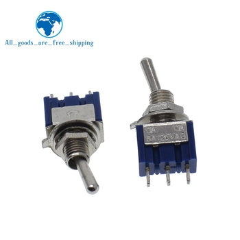 10Pcs DIY Toggle Switch ON-OFF-ON / ON-OFF 3Pin 3 Position Latching