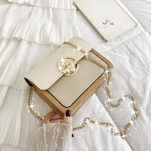 купить ladies hand crossbody white shoulder bag summer messenger bags for women 2019 sac a main bandouliere femme Small bag mini chain дешево