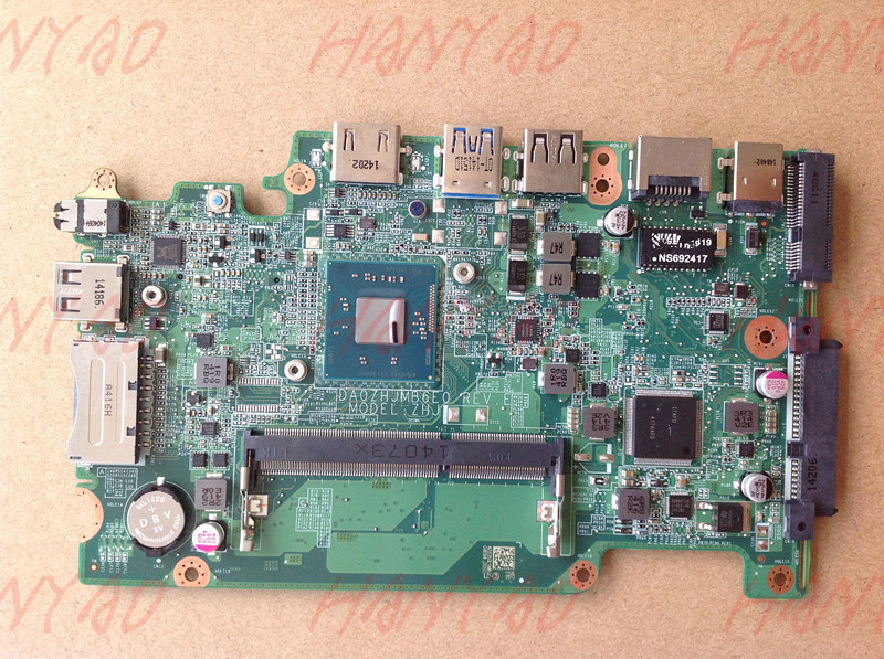DA0ZHJMB6E0 For font b ACER b font E3 111 Laptop Motherboard NBMNU11001 With N2830 CPU MainBoard