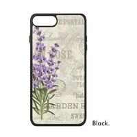 Фиолетовый Лаванда ботаника дикий цветок тюльпаны dandelio Роза растительный узор телефона чехол для iPhone X 7/8 плюс Чехол Phonecase крышка
