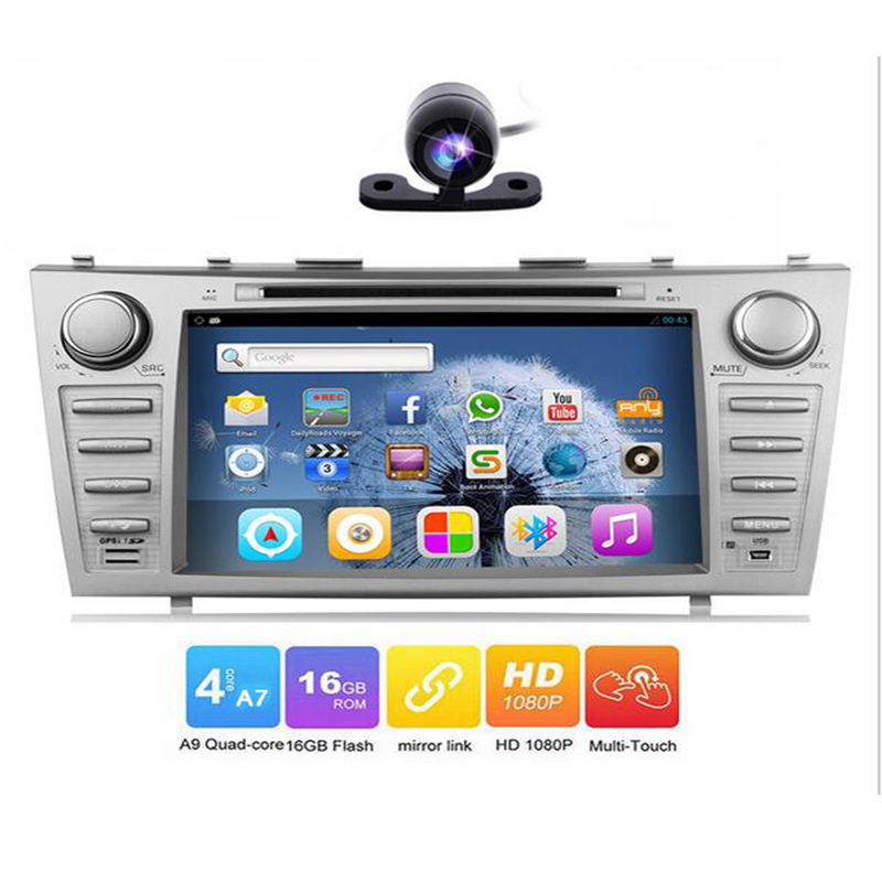 2 Din Android 6.0 Car DVD Player for Toyota Corolla 2007 2008 2009 2010 2011 with Quad Core 8 1024*600 Screen Car Stereo Radio