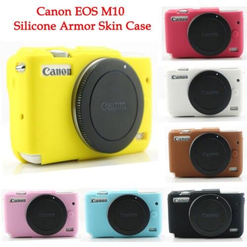 10 pièces Silicone armure coque peau caméra couverture protecteur sac pour Canon M10 Mirrorless système caméra