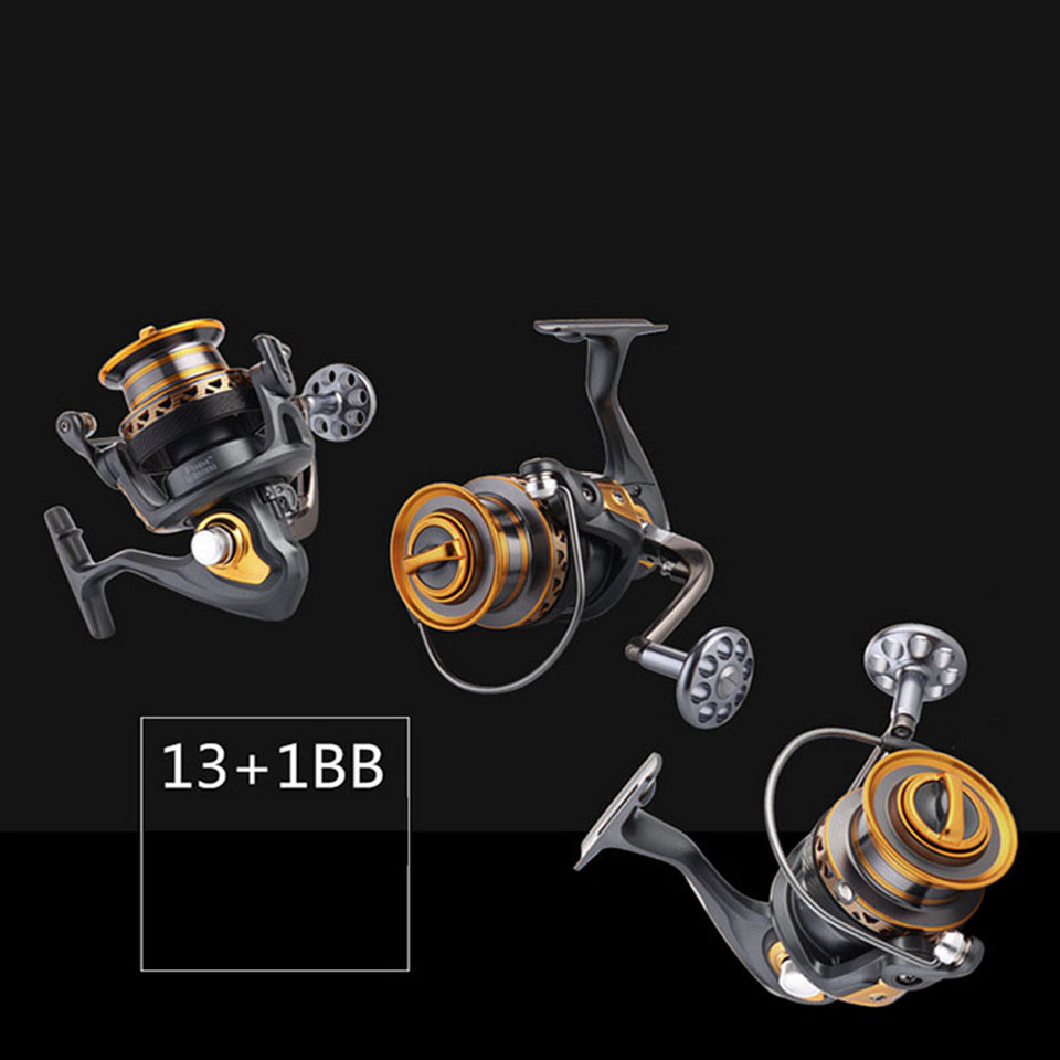 13+1BB 5.2:1 5.1:1 Superior Metal Arm 4000-7000 Series Surf Spinning Fishing Reels Big Long Shot Casting Fly Sea Wire Cup Wheels