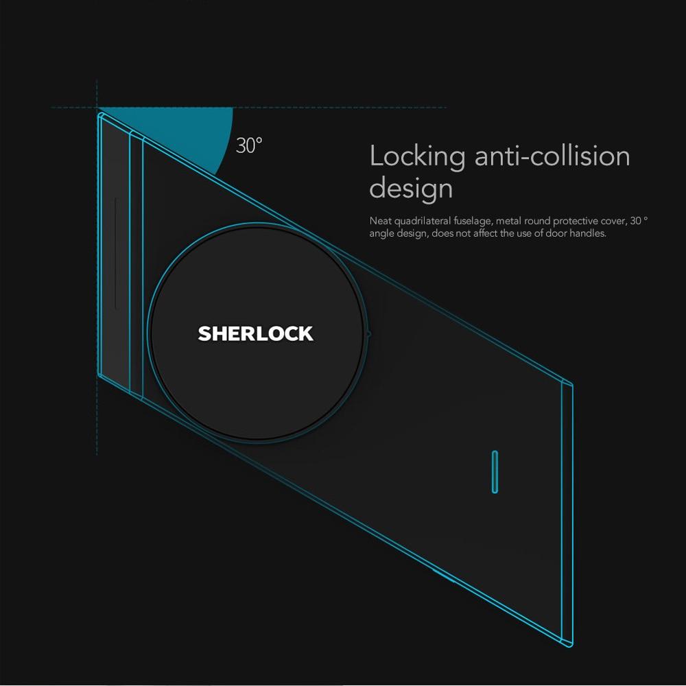 Image 4 - Sherlock S2 Electric Lock Fingerprint+Password Smart Door Lock Add 1Pc Key For Office Glass Door Wireless APP Bluetooth Control-in Electric Lock from Security & Protection