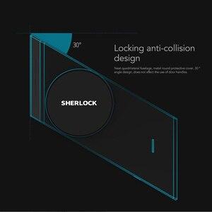 Image 4 - Sherlock S2 Electric Lock Fingerprint+Password Smart Door Lock Add 1Pc Key For Office Glass Door Wireless APP Bluetooth Control
