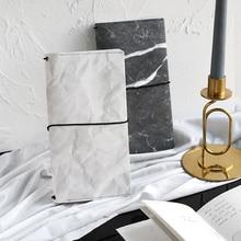 купить Kawaii Simple Marble Stone Notebook Stationery Diary Agenda Pocket Notepad Planner Weekly Book Travel School Supplies sl2049 онлайн