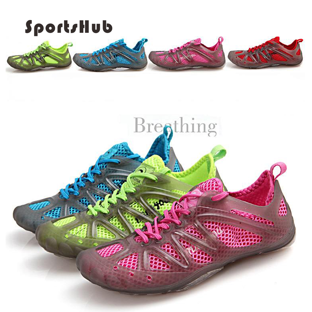 SPORTSHUB Breathable Fluorescent Aqua Shoes Quick-Drying Unisex Summer Water Shoes Luminous Lace-Up Rubber Walking Shoes S0005 тележка для шланга металлическая 100 gardena