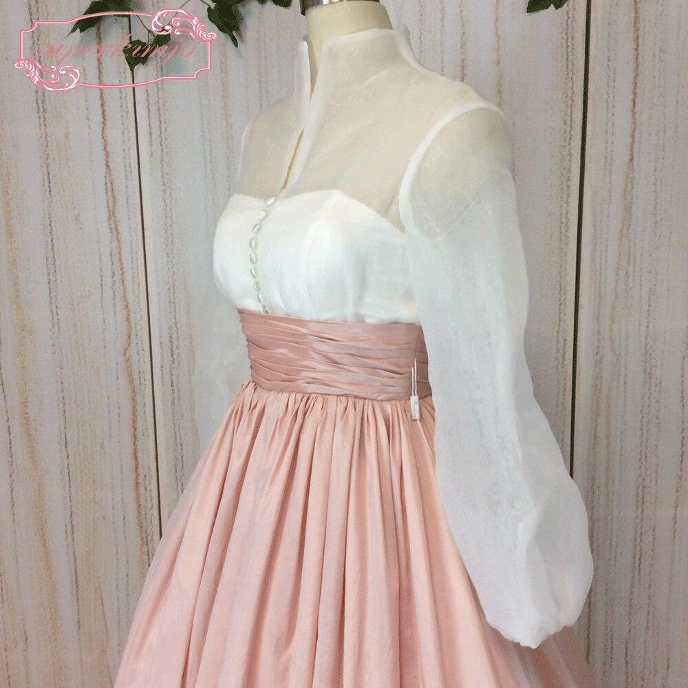 Superkimjo 1950 s Vestidos de baile manga larga vintage Pink prom ...