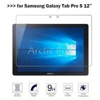 2.5D 9 H Premium Patlamaya dayanıklı Temperli Cam Samsung Galaxy Tab Pro S 12 Ekran Koruyucu Güçlendirilmifl koruyucu film