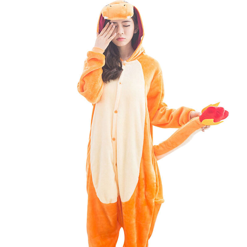 Pokemon-Charizard-Onesie-Adult-Women-Men-Pajamas-Cartoon-Animal-Charmander-Dragon-Costume-Party-Winter-Warm-Cute