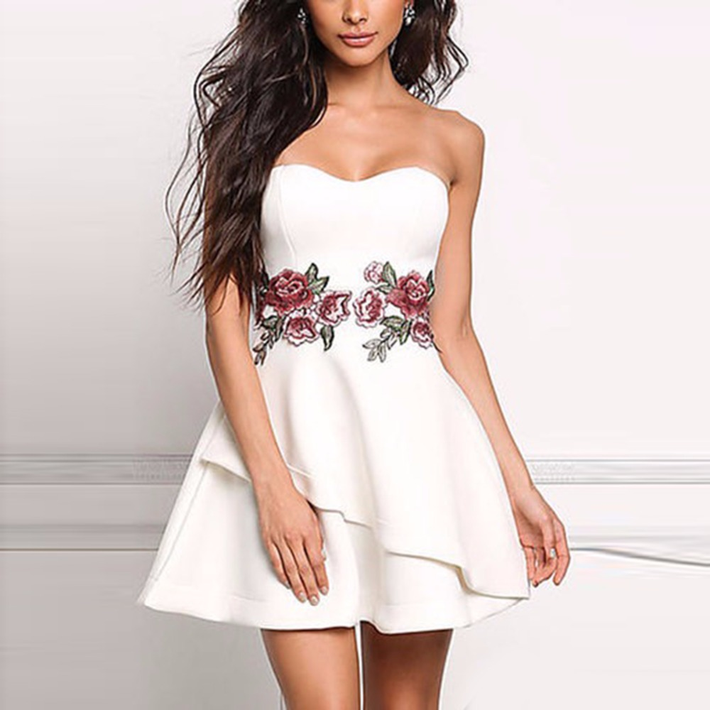 puseky robe femme nuevo vestido de las mujeres del estilo europeo elegante rosa vestido bordado una
