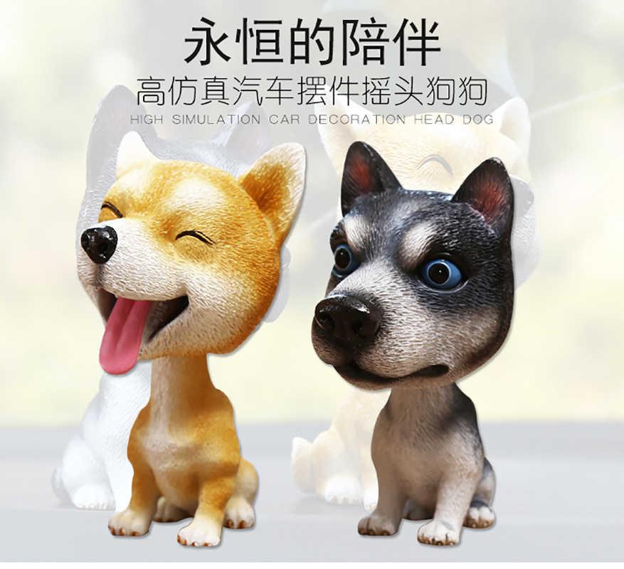 Автомобильный орнамент кивающая собака Авто тире качалка собака натуральная смола собака игрушка для автомобиля аксессуары интерьера украшения домашний подарок