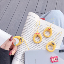 cute smiley face finger ring straps hand lanyard key rope for mobile phone camera USB flash drives accessories