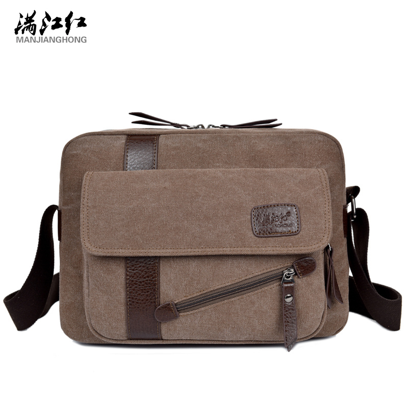 2017 New Men's Fashion Business Travel Shoulder Bags Men Messenger Bags Canvas Briefcase Men Bag Free Delivery 1294 casual canvas women men satchel shoulder bags high quality crossbody messenger bags men military travel bag business leisure bag