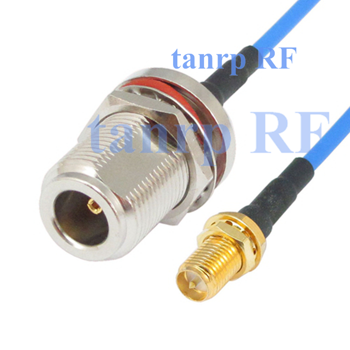 15CM coax Sexi Flexible blue jumper cable RG405 6in RP SMA female jack to N female with nut bulkhead RF 3G 4G router WIFI