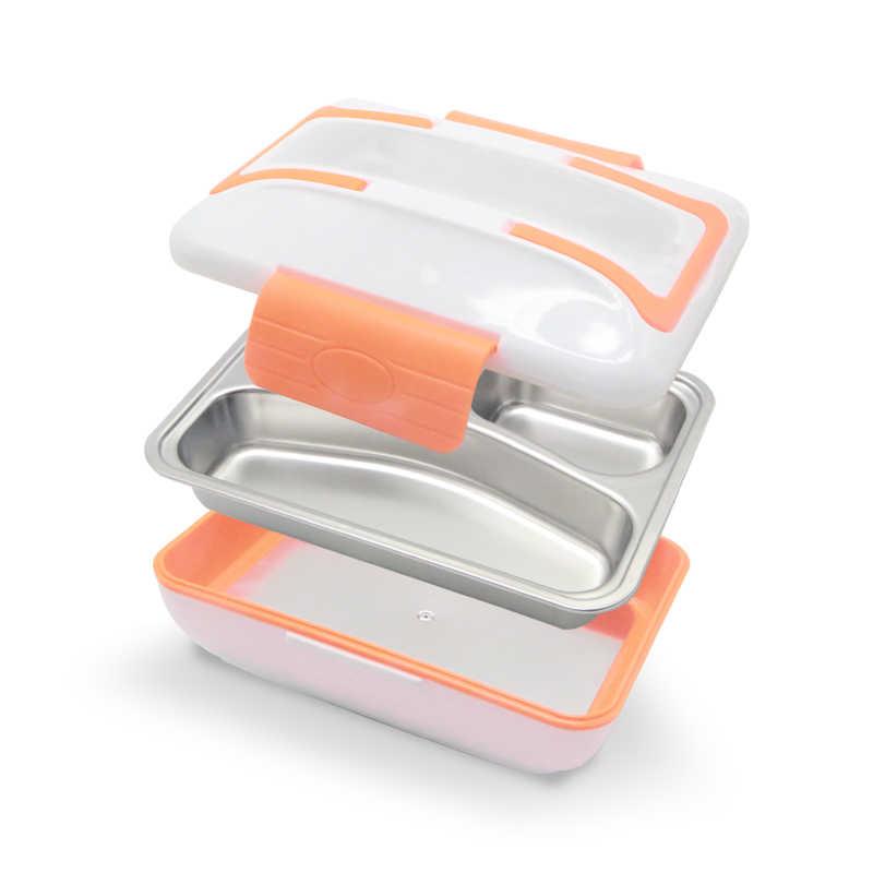 AHTOSKA 12V Di Động Làm Nóng Bằng Điện Lunchbox Được Làm Bằng Chất liệu Thép Không Gỉ Và Nhựa Giữ Ấm Thức Ăn Cho Xe Hơi Đồ Ăn