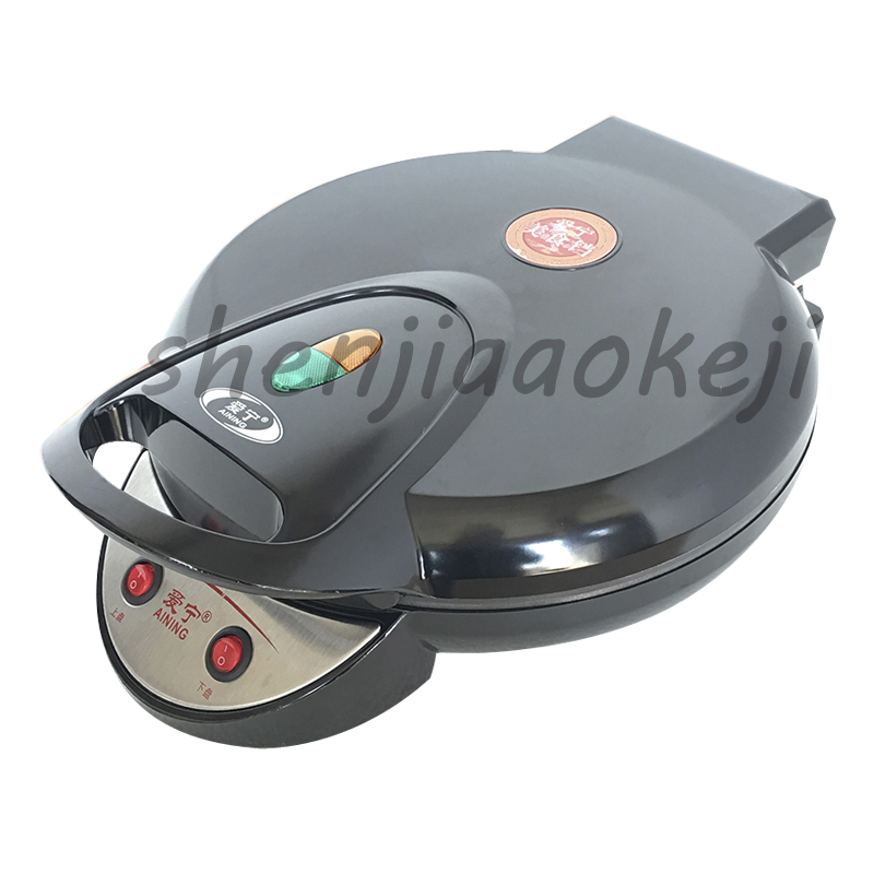 35CM large electric double-sided home heating pancake pan cake machine pancake machine waffle machinefried machine 220v1350w1PC jiqi automatic double heating pancake makers household electric baking pan pancake machine kitchen helper