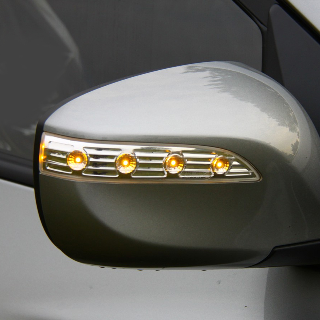 beler Clear Side Mirror Amber LED Turn Signal Light