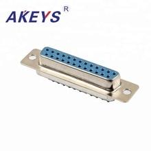 2 PCS VGA Interface DB25 Pin Blue Core Double Row Female Adapter