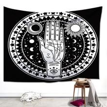 Greek Fate Astrology Hand Tapestry Palm Master Sun Moon Star Solar Power Blanket Curtain Cloth Throw Decoration