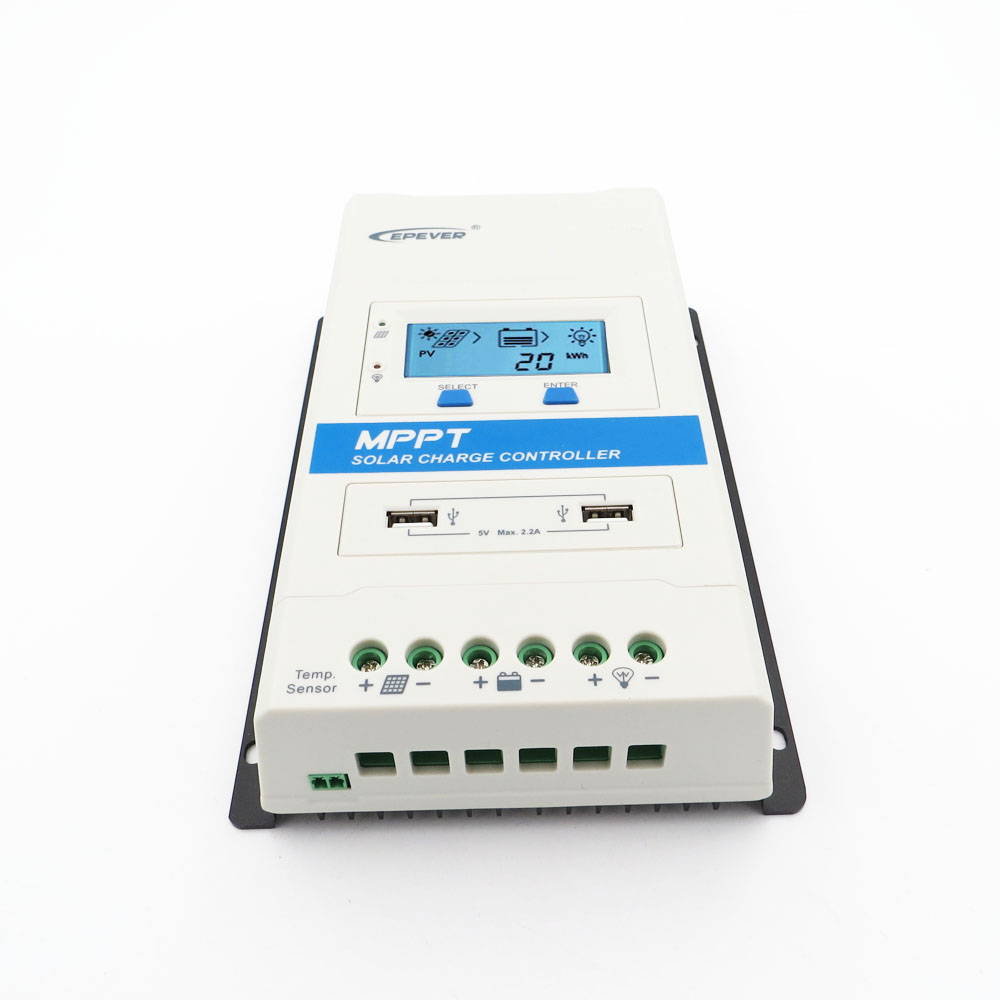 40 30 20 10 A AMP USB1 DS1 Module MPPT Solar Charge Controller TRIRON Series Battery