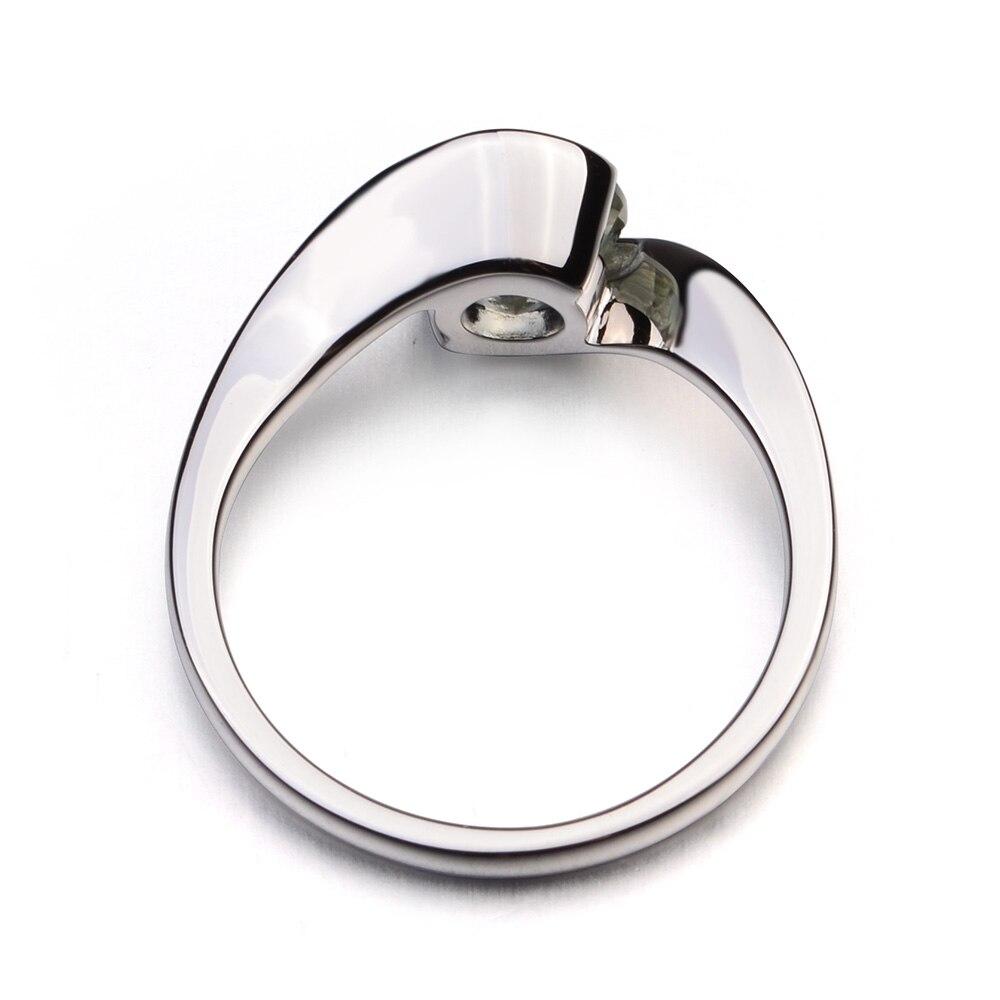 Leigeเครื่องประดับ1.25ctแท้สีเขียวAmethyst 925แหวนเงินพลอยรอบตัดแหวนหมั้นแหวนสัญญาของขวัญสำหรับเธอ-ใน ห่วง จาก อัญมณีและเครื่องประดับ บน   3