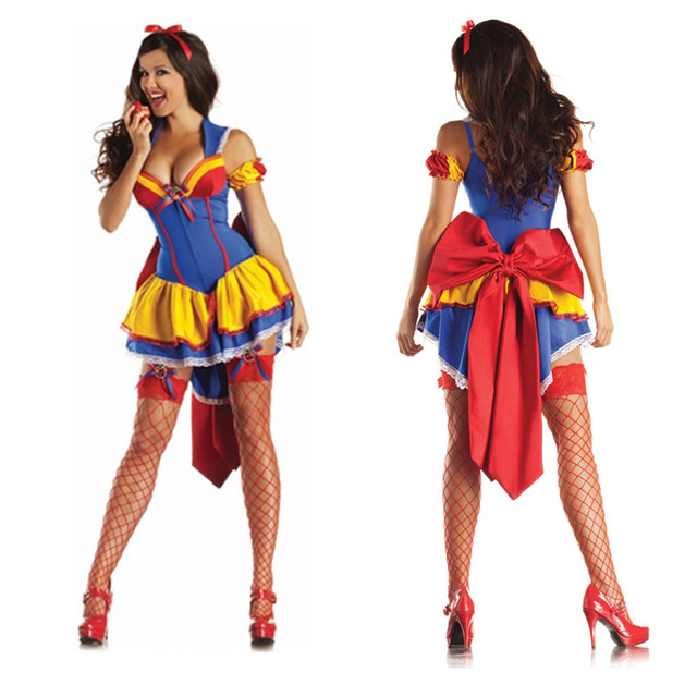 a43232405c 2018 Sexy Adult Snow White Costume Carnival Halloween Costumes For Women  Fairy tale queen Clothes Dress