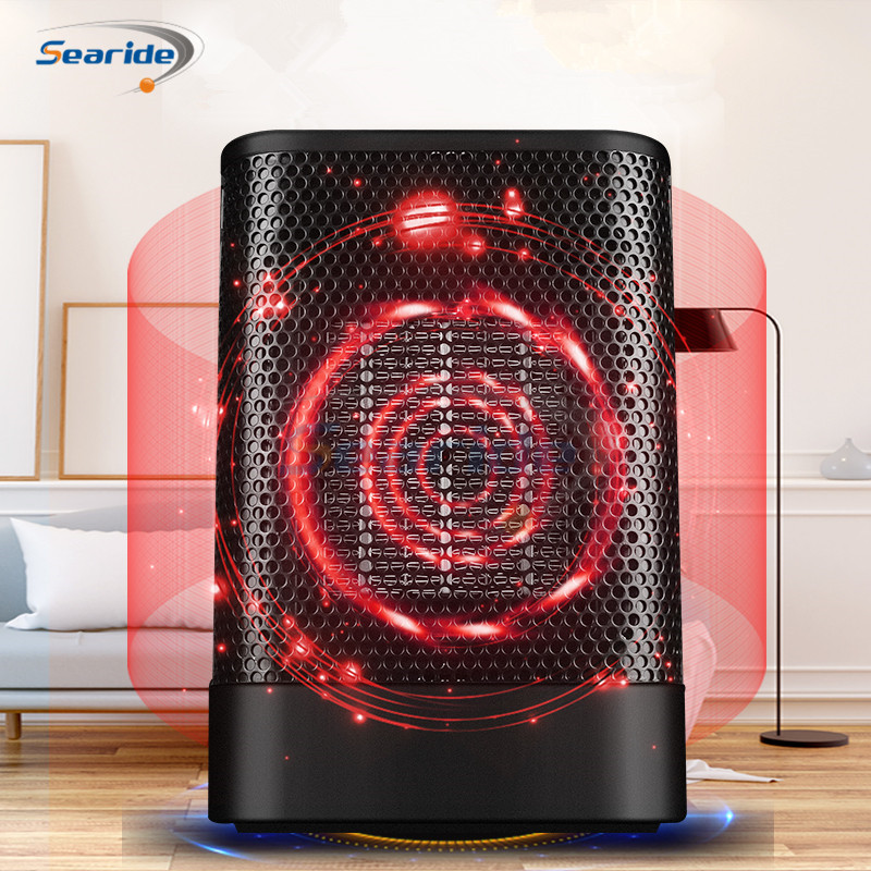 700W Mini Protable Electric Heater Fan Bathroom Warm Heater PTC Heating Electric Space Heater Hot And Cold Mode For Home Office