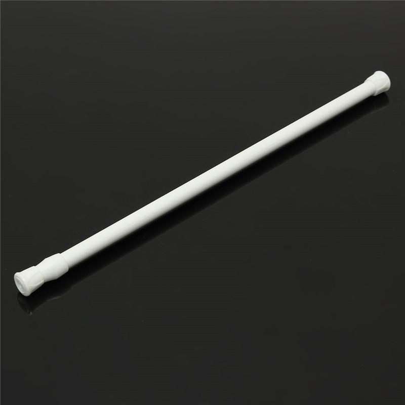 40 75mm White Spring Loaded Extendable Telescopic Net Voile Tension Curtain  Rail Pole Rod Rods