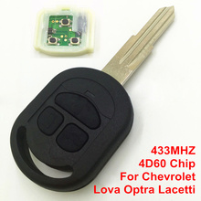 Новая Замена 3 Кнопки Дистанционного Ключа Автомобиля для Chevrolet Lova Optra Lacetti 433 МГЦ с 4D60 Чип с Режиссерский Лезвия