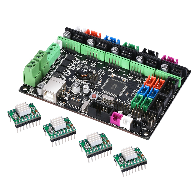 3D printer board MKS Gen L V1.0 controller support A4988/8825/TMC2208/TMC2130 drivers reprap Ramps1.4/Mega2560 R3 board soaringe e00316 3d printer kit mega2560 board ramp 1 4 extend shield 4 a4988 stepper drivers