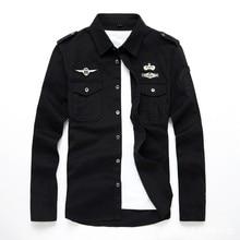 top quality fashion men long sleeve cotton shirts military fitness cargo outwear dress shirts M 6XL AYG75shirt buyershirts for women 2013shirts creative