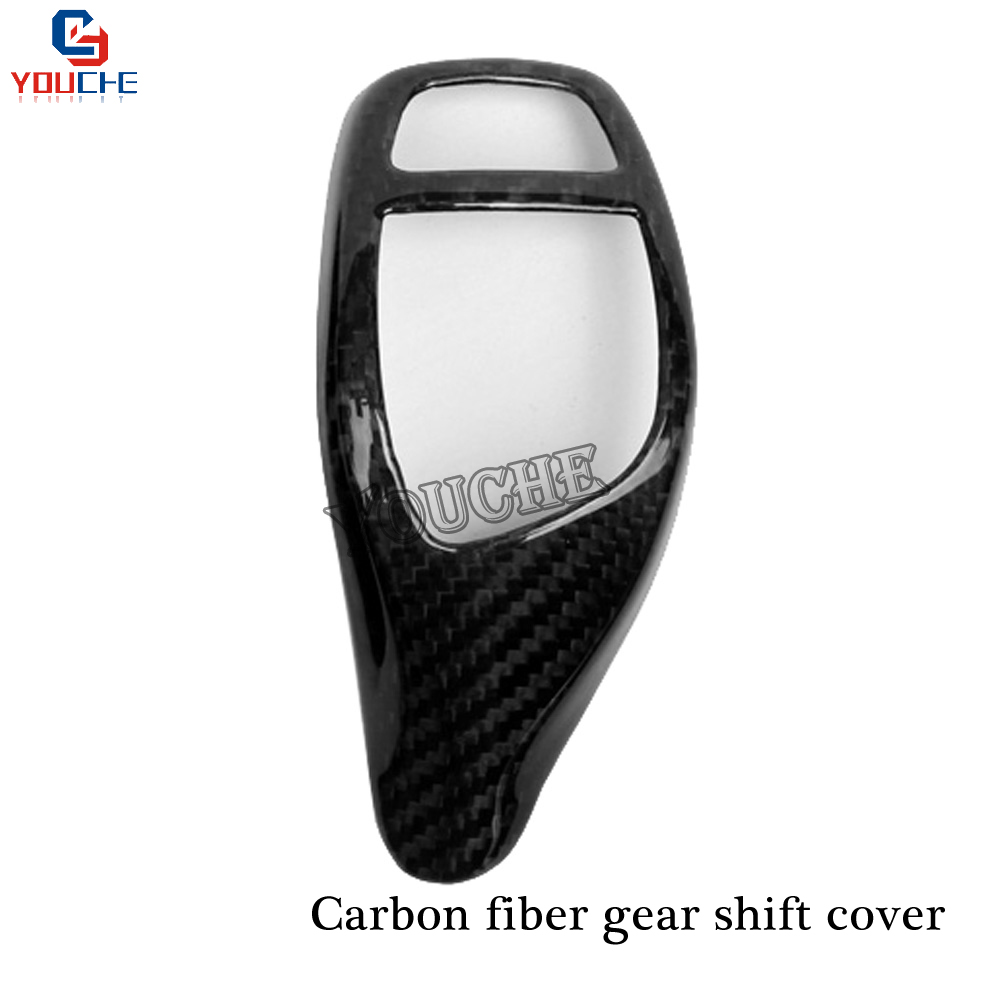 Carbon Fiber Gear Shift Knob Panel Cover Caps For BMW 1 2 3 4 5 Series X3 X4 X5