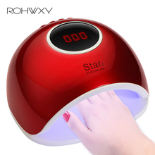 ROHWXY Новый 72 Вт УФ светодиодный светильник ногтя инфракрасный Сенсор гель лак для ногтей сушилка ногти Книги по искусству гелем свет авто на Электрическая Сушилка для ногтей