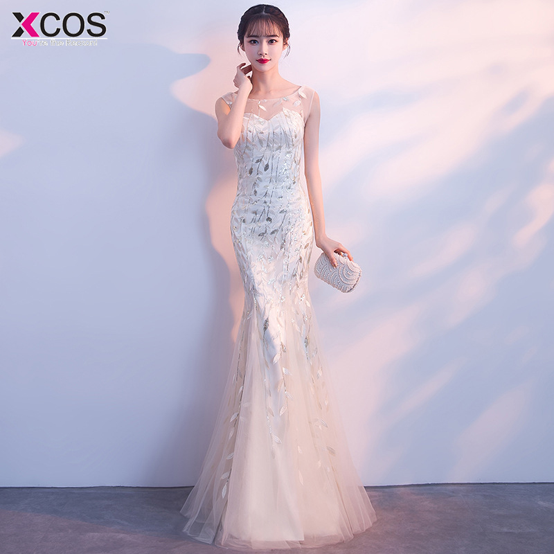 2018   Prom     Dresses   Mermaid Party   Dresses   Sexy Scoop Sleeveless Vestido De Festa Sequins Long   Prom     Dress   Fashion Formal Gowns