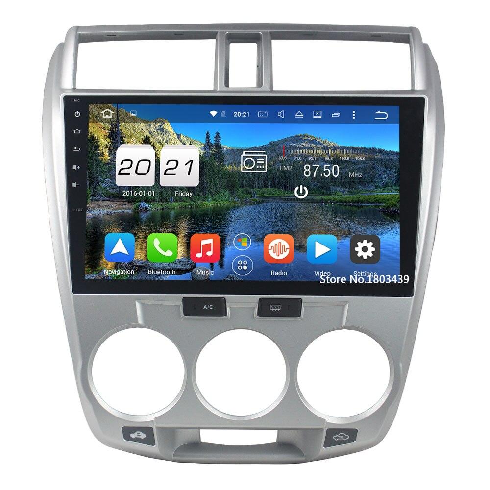 "Android 6.0.1 Octa 8 core 2 DIN 10.1 ""2 ГБ Оперативная память Зеркало Ссылка стерео Мультимедиа Радио с GPS navi для Honda City 2006-2013"