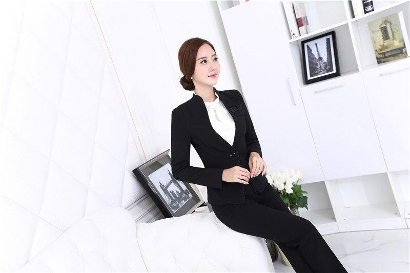 ff7a5cdfd Conjuntos Negocios Elegante Negro Y Tamaño Nueva Profesional Plus Trajes  Abrigos Mujer Pantalones Chaquetas Oficina De Black 3L4jq5ARcS