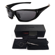 Polarized Sunglasses Men Fishing Eyewear Polarize Driving Sunglasses UV400 Black Frame Travel Glasses UV400 Protection With Case classic uv400 protection sunglasses w pu leg black frame