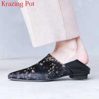 2018 New Fashion Pointed Toe Horsehair Slip On Spring Shoes Low Heels Women Pumps Classic Strange